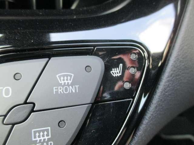シートヒーター!冬の強い味方です!室内よりも早く暖かくなりますよ!