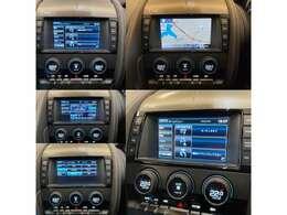 F-TYPEのインターフェイスここで車両のA/C・ナビゲーションなどの設定が可能です。