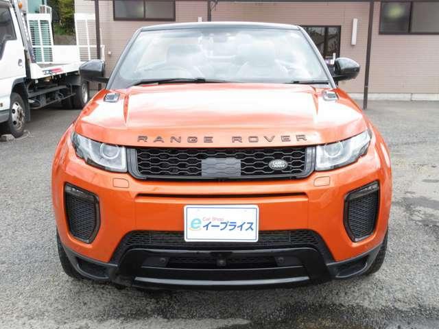 SUVのコンバーチブルは珍しくボディーカラーのフェニックスオレンジも目立つ色なので目を引きます。