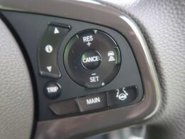 ACC【アダプティブクルーズコントロール】クルーズコントロールにレーダーを組合わせ、設定されたスピードを上限に自動で加減速を行い、一定の車間距離を維持するシステム♪
