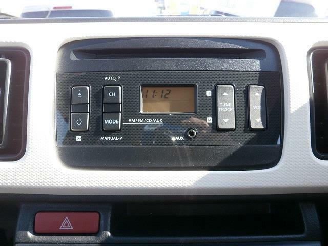 AM/FMラジオ付CDプレーヤーを装備!!ワイドFMにも対応しています!!