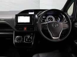 ハンドル周りです。運転している間、長く触れているものだから手に馴染むハンドルがいいですよね♪握ると欲しくなっちゃいますよ。