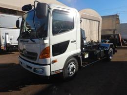 日野自動車 レンジャープロ 4tアームロール 新明和ツインホイスト 積載3700kg