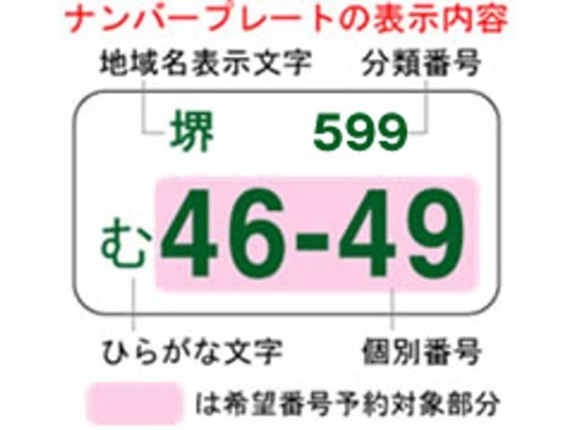 Aプラン画像:有料にはなりますが、ご購入のおクルマに好きな下4ケタの番号を選ぶ事もできます。 ※都道府県や地域によって取得出来る番号が異なりますので、詳しくはスタッフまでお尋ね下さい。