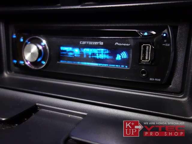 室内コンディションも全体的に良好な一台です。ETC車載器・社外オーディオ(DEH-P640)が装着済みです。CD再生・USB接続が可能です。