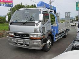 三菱ふそう ファイターミニヨン 積載車 積載2.4t 3段ユニック 6MT ナビ