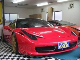 フェラーリ 458イタリア F1 DCT デイトナシートレカロフロントリフティング