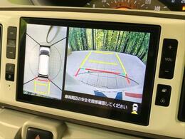 フロント・サイド・バックにカメラが装備されていることで、上からの映像がモニター上に出ます!駐車が苦手な方でも駐車時も安心ですね♪
