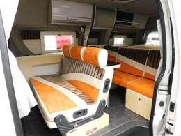 セカンドシートはFASPシート 前向き・後ろ向き・ベッドへと展開が可能