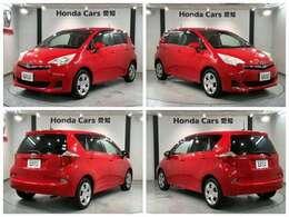 社外メモリーナビ ETC キーレス装備のトヨタの赤色のラクティス X入庫しました。
