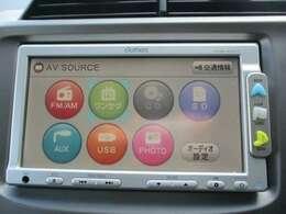 純正メモリーナビ(VXM-108CS)です。CD再生のほかにもワンセグTV、SD再生機能も装備されとっても便利です!