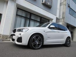 BMW X3 xドライブ20d Mスポーツ ディーゼルターボ 4WD ディーラー車 禁煙車 20インチアルミ