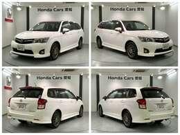 純正HDDナビ 社外AW HIヘッドライトD リアカメラ キーレスキー装備のトヨタの白色のカローラフィールダー 1.5Gエアロツアラー入庫しました。