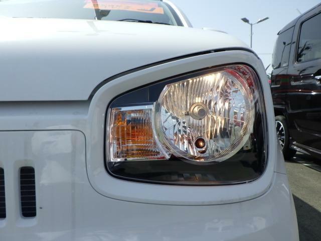 大きく明るい視認性の良いヘッドライト