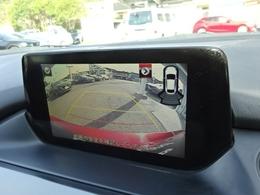 バックカメラは安全、安心のモニターガイド付きです
