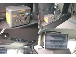 ポータブル電源切り替えで後席モニターが起動できます!