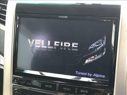 アルパインナビを装備。フルセグ・DVD再生・Bluetooth等の機能も使用できます!