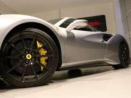 オプションのカーボンホイールがよりかっこよさを際立たせてくれています。