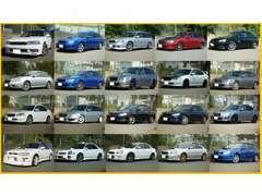 スバル車は長年にわたり、歴代レガシィ、インプレッサと取扱いしてまいりました!ミニクーパーS6速MT等の車種もお任せください!