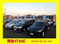買取車両がメインなので、車種は様々!もちろん注文販売もお受けできますので、お気軽にお立ち寄り下さい!