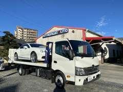 メインカーからセカンドカーまで在庫豊富♪積載車も完備しておりますのでレッカー搬送等もご利用ください♪