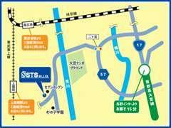 首都高速「与野IC」から15分・JR埼京線「南古谷駅」、東部東上線「上福岡駅」よりご連絡頂ければお迎えに上がります♪