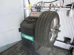 タイヤのバランスもしっかり整え、安心してお乗りいただけるようにしっかりメンテナンス致します。