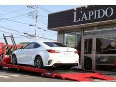ワイド&ローなお車も対応のフルフラットワイドの積載車を完備しております。