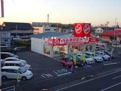 広々敷地!角地に立地していますので、木更津方面からも、市原方面からも両方向共に簡単に駐車スペース止められますよ!