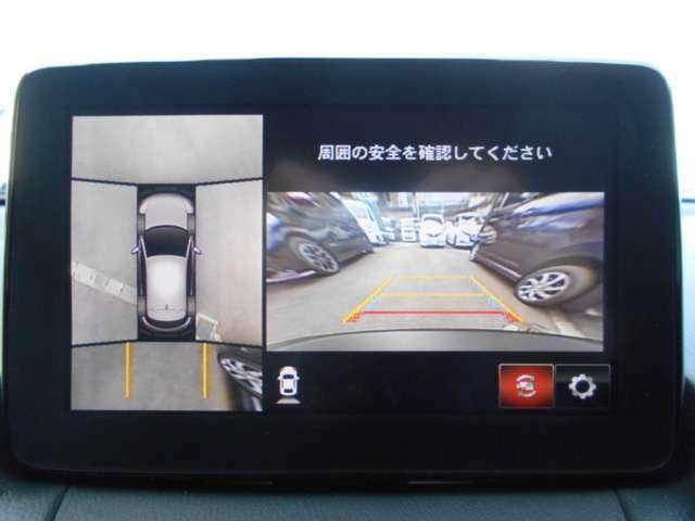 車の周囲が確認できる、便利なモニターがつぃています