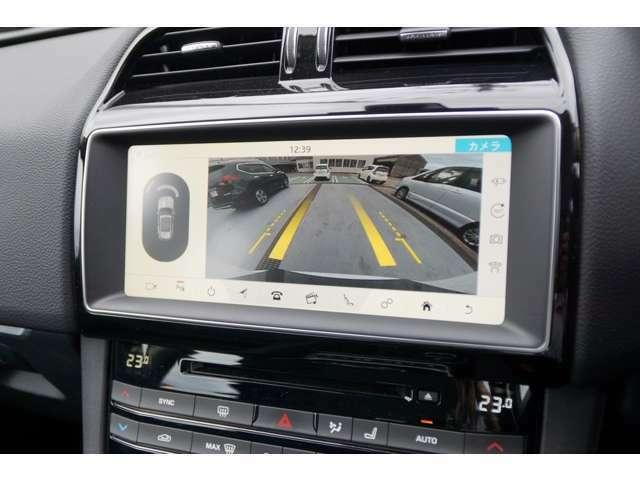 バックカメラ、360°パーキングエイド等により駐車時の見えない所のサポートをしてくれます。