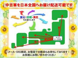 当社は新型コロナウイルス感染防止の対策としまして、お客様のご希望により電話・メールでの商談や日本全国への登録納車を行っております。お気軽にお申しつけ下さい。