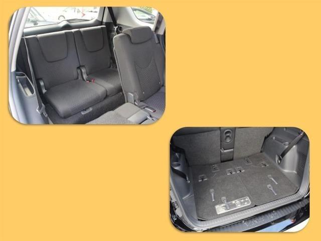 サードシートは2人掛け!お子様であれば余裕のシート!たたんでフラットにして荷室を広げるのもラクチンです!