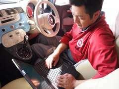 熟練の専属メカニックによる整備で安心サポート。