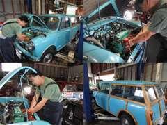 エンジン下ろしての塗装、パーツ取付、エンジンOHMk-1仕様、レース仕様などご予算に応じてレストア致します。