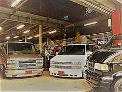 アメ車、旧車を中心としたラインナップになっております。在庫にないお車もお気軽にご相談下さい♪