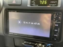 ストラーダSDナビを装備でロングドライブも快適です。