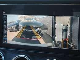 【360°カメラシステム】フロント・サイド・リアに装備されたカメラにより、車両周囲を上から見たような高画質で歪みの少ない映像により見渡せるカメラが装備されております。