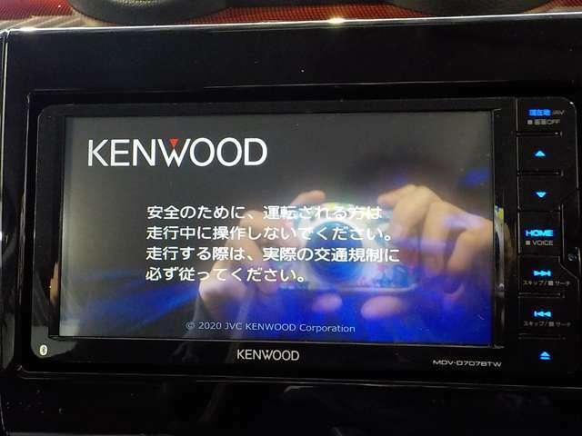 ケンウッド製SDナビを装備!