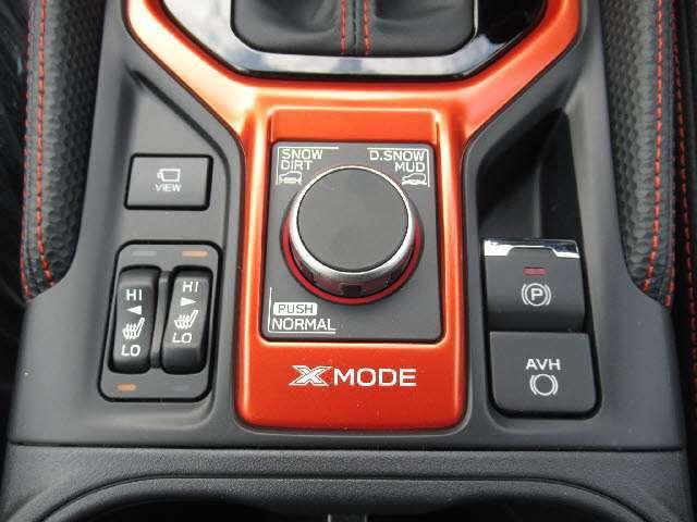 悪路の走行など路面状況に合わせてドライブモードを設定できるX MODE!