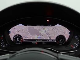 必要に応じてメーター内に地図や車両にインフォメーションなどを切り替え表示できるバーチャルコクピット