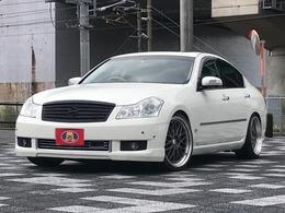 日産 フーガ 3.5 350XV VIP 純正ナビ ハーフレザーシート 社外アルミ