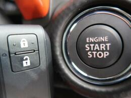 【キーレスプッシュスタートシステム】リモコンを身につけていればエンジンの始動はスイッチを押すだけ!ドアの施錠・解錠はリクエストスイッチを押すだけ!バッグからキーを取り出す必要がなく便利ですね♪