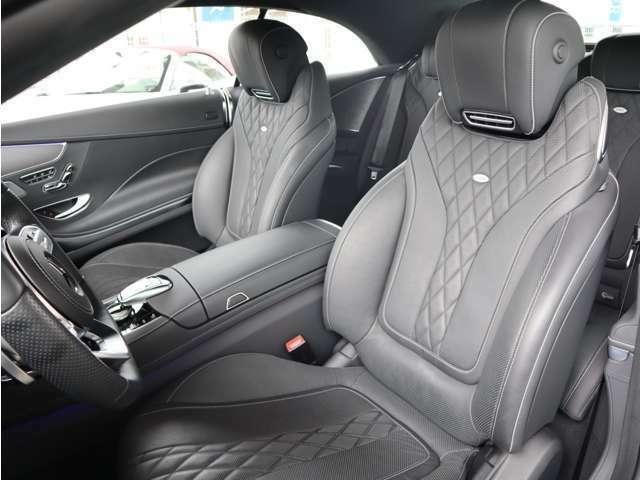 ブラックデジーノレザーフロントシート シートヒーター&クーラー メモリー機能付きパワーシート イージーエントリー(ステアリング・前席)