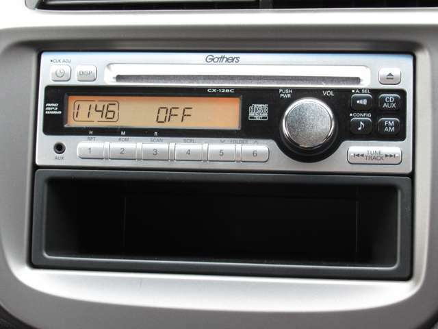 CDチューナーを装着しております。FM、AMにCDとお好きな音楽と共にゆったりとドライブを楽しめます。