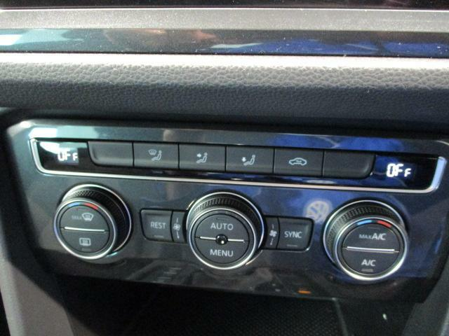 3ゾーンフルオートエアコンを装備。運転席と助手席、後部座席がそれぞれ独立して温度の設定ができます。