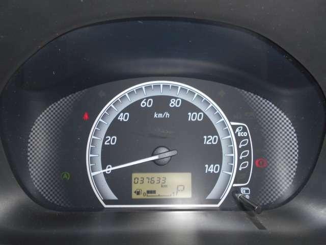 メーターは、シンプルなデザインとなっております!走行距離は、37633kmです!