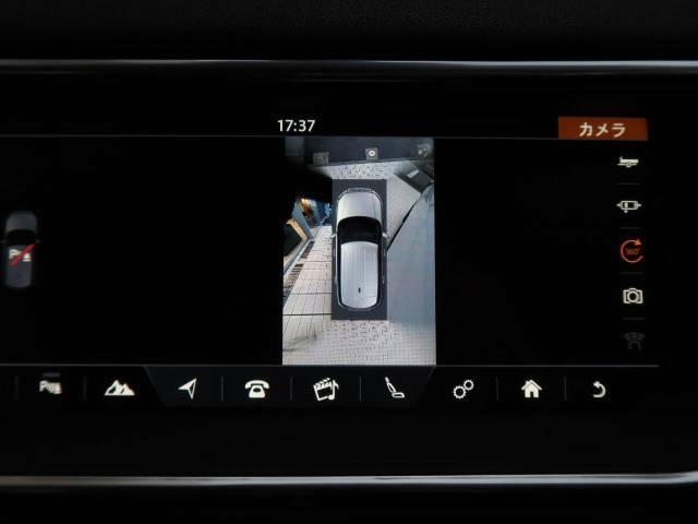 360度カメラ『車載のカメラを駆使し、車を真上から見下ろしている映像に変換、センターディスプレイに表示させ、安全な駐車をサポート。縦列駐車や狭い場所への駐車に大きく役立ちます。』