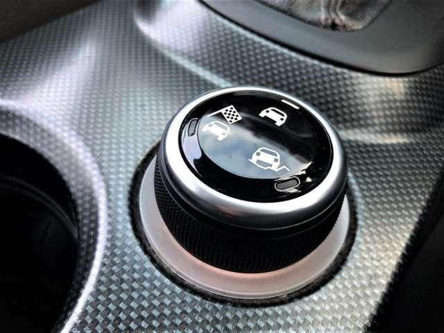 様々な路面に対応できる本格的なモード切り替えスイッチを搭載。