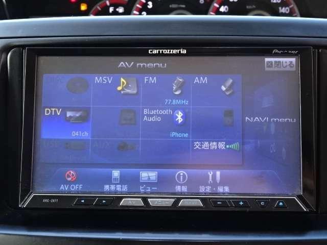 Bluetooth接続、DVD再生、CD録音、ラジオなど多機能なナビです!